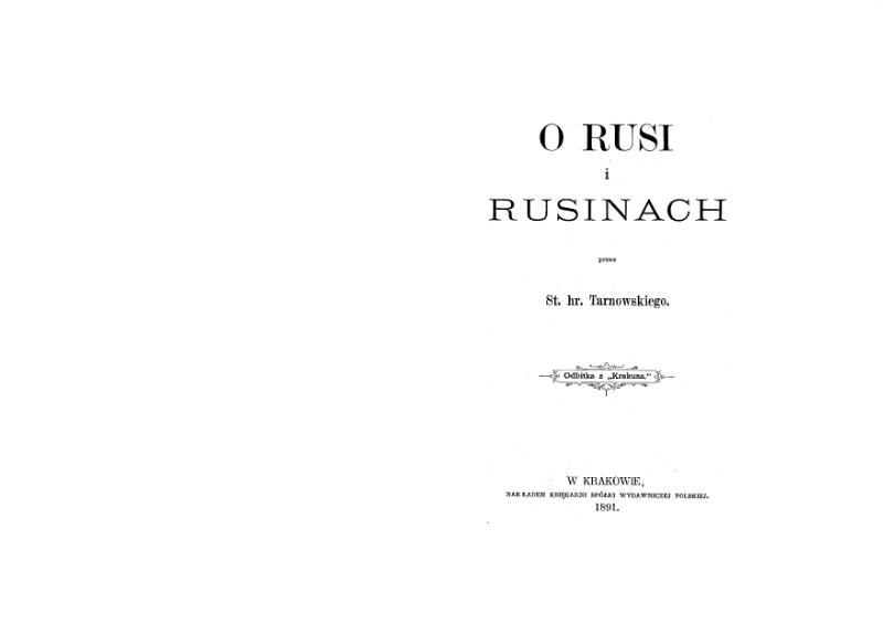 File:Mnib141-Tarnowski-ORusiIRusinach.djvu