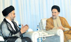 Abdul Aziz al-Hakim - Abdul Aziz al-Hakim and President Mohammad Khatami, October 6, 2003, Tehran
