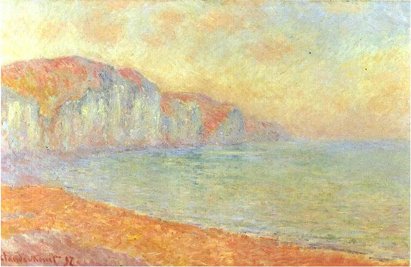 La peinture - Page 13 800px-Monet-_Felsenklippen_bei_Pourville_-1892