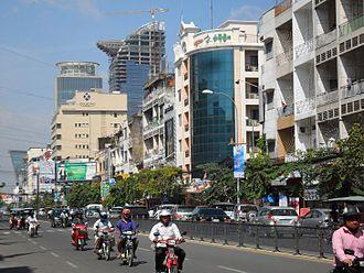 Monivong Boulevard - Buildings on Monivong Boulevard.