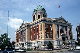 Monroe County, Ohio - Image: Monroe County Courthouse, Woodsfield