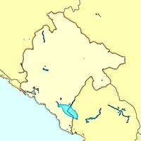 Подгорица на карте Черногории