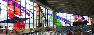 Champ-de-Mars station (Montreal Metro) - The stained glass, installed in 1968