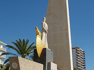Salou - Image: Monumento a Jaime I en Salou