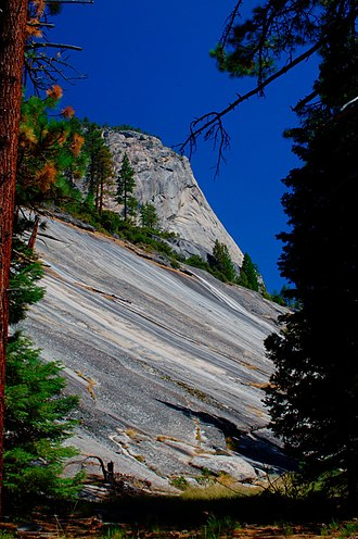 Little Yosemite Valley - Granite Apron draping southwestern margin of Moraine Dome