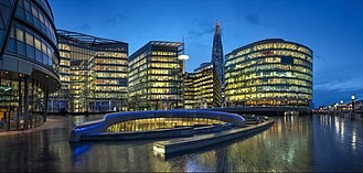 More London - The More London development from City Hall on the Thames waterfront.