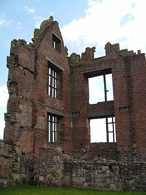 Andrew Corbet - Part of the Elizabethan building at Moreton Corbet Castle, completed at last by Sir Vincent.