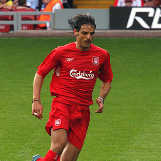 Fernando Morientes - Morientes in action for Liverpool in August 2005