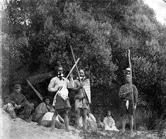 Moriori - Moriori people in the late 19th century.