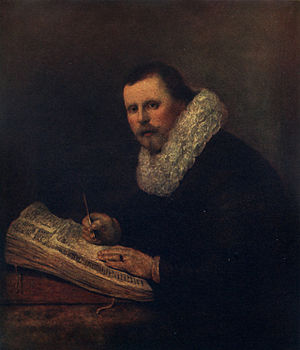 Mortimer Menpes - Menpes' Portrait of Savant after Rembrandt's Portrait of a Scholar