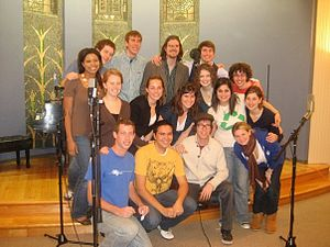 "Mosaic Whispers - Mosaic Whispers and Ben Folds take a break from recording ""Still Fighting It"" for Ben Folds Presents: University A Cappella!"