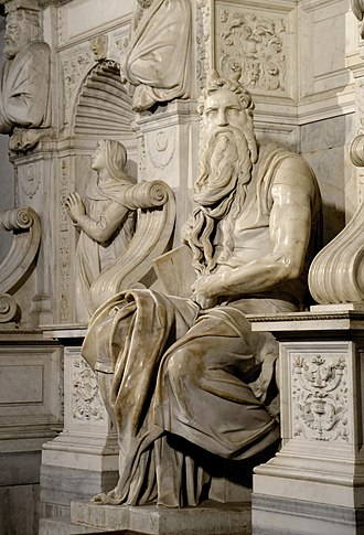 Moses (Michelangelo) - Image: Moses Michaelangelo September 2015 1