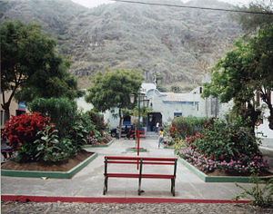Mosteiros, Cape Verde - Praça do Entroncamento.