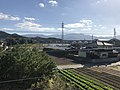 Mount Raizan from overpass of Susenji Station.jpg