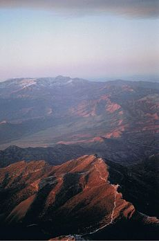 Mountains west of Las Vegas in the Mojave Desert.jpg