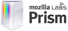 Description de l'image Mozilla_Prism_logo_and_wordmark.png.