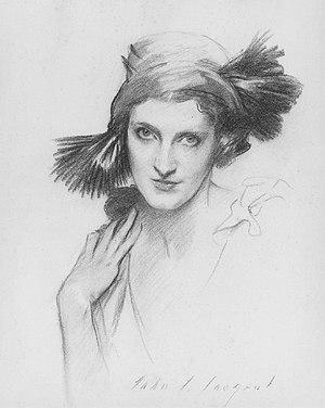 Daisy Fellowes - Portrait of Fellowes by John Singer Sargent