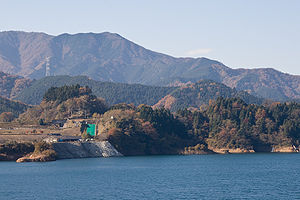 Mt.Yake from Lake Miyagase 01.jpg