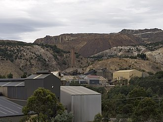 Mount Lyell Mining and Railway Company - Mount Lyell mine in 2014