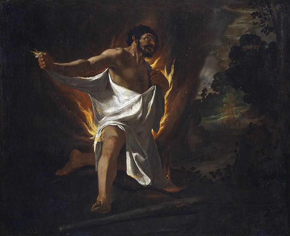 Muerte de Hércules, por Zurbarán