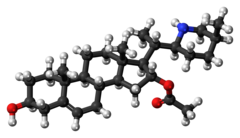Ball-and-stick model of muldamine