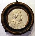 Museo della Pala del Pollaiolo, busto di clemente xi entro un tondo di marmo.jpg
