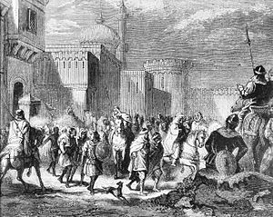 Muslim troops leaving Narbonne to Pepin le Bref in 759.jpg