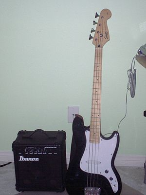 Small practice amplifier have low wattage and low volume which make them mostly suited to individual learning of basslines. My Bass.JPG