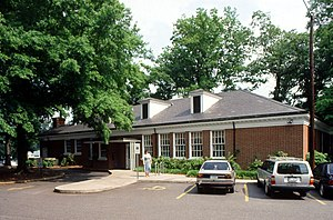 Myers Park (Charlotte) - The Myers Park branch of the Public Library of Charlotte and Mecklenburg County