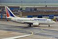 N100UN B737-7K9 Transaero FRA 14AUG99 (6332226680).jpg