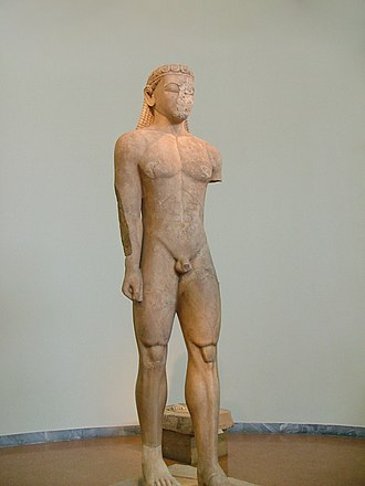 Sounion - Sounion Kouros (ca. 600 BC),  National Archaeological Museum of Athens
