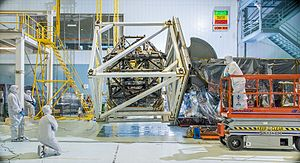 Integrated Science Instrument Module - ISIM inside a cage for a gravity test, 2014