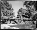 NORTHWEST (STREET) FRONT - Saratoga Foothill Club, 20399 Park Place, Saratoga, Santa Clara County, CA HABS CAL,43-SARA,2-1.tif
