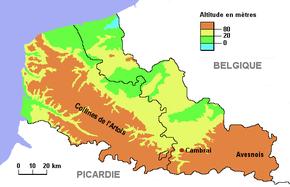 Cambrai dans son contexte topographique