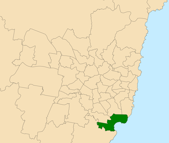 Electoral district of Cronulla - Location within Sydney
