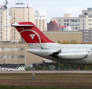 McDonnell Douglas DC-9 - Northwest Airlines (NWA) DC-9 T-tail at Regina International Airport