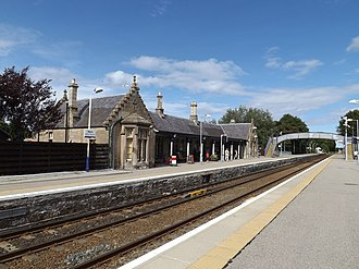 Highland Railway - Nairn railway station was built by the Highland in 1885–91, and is currently a Category B Listed Building.