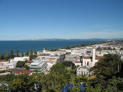 Aerial view of Napier on Hawke's Bay