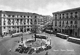 Piazza Vanvitelli negli anni cinquanta