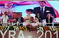 Narendra Modi at the 21st International Conference on Frontiers in Yoga Research and its Applications (INCOFYRA), in Bengaluru, Karnataka. The Governor of Karnataka (2).jpg