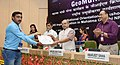 Narendra Singh Tomar presented the certificates to Barefoot Technicians, at the inauguration of the GeoMGNREGA workshop, in New Delhi (1).jpg