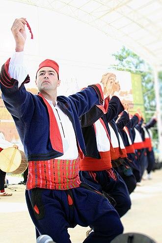 Vranje - Local traditional costume.