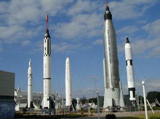 Rocket garden - Kennedy Space Center Visitor Complex Rocket Garden in 2004.