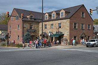 Nashville, Indiana - Main and Van Buren streets in downtown Nashville.