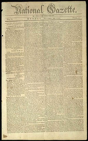 National Gazette - Image: National Gazette
