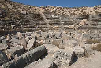 Cyrrhus - The well-preserved Roman amphitheatre is among the largest in Syria.