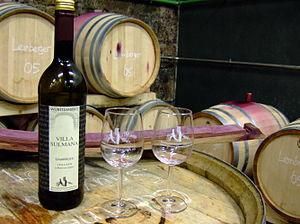 Württemberg (wine region) - A bottle of Lemberger varietal wine from Württemberg