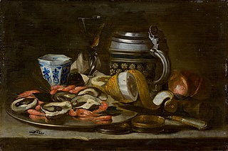Still Life with Crayfish and Oysters