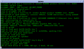 NetBSD - NetBSD/amd64 startup in console mode