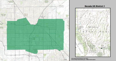 Nevada's 1st congressional district - since January 3, 2013.